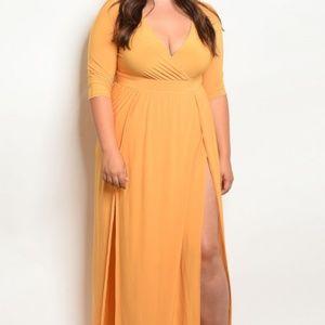 Dresses & Skirts - Mustard Maxi Dress